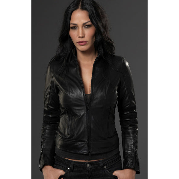Black Leather Winton Jacket