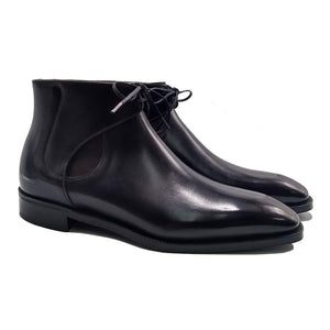 Black Leather Cowra Chelsea Boots