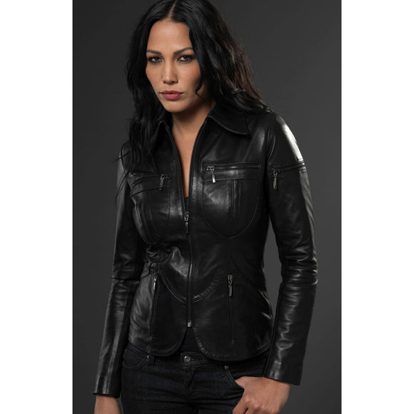 Black Leather Yeppon Jacket