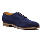 Navy Blue Suede Hamlet Derby Shoes