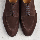 Height Increasing Brown Suede Hamlet Derby Shoes