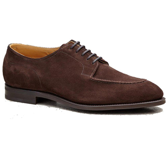 Flat Feet Shoes - Brown Suede Hamlet Derby Shoes with Arch Support