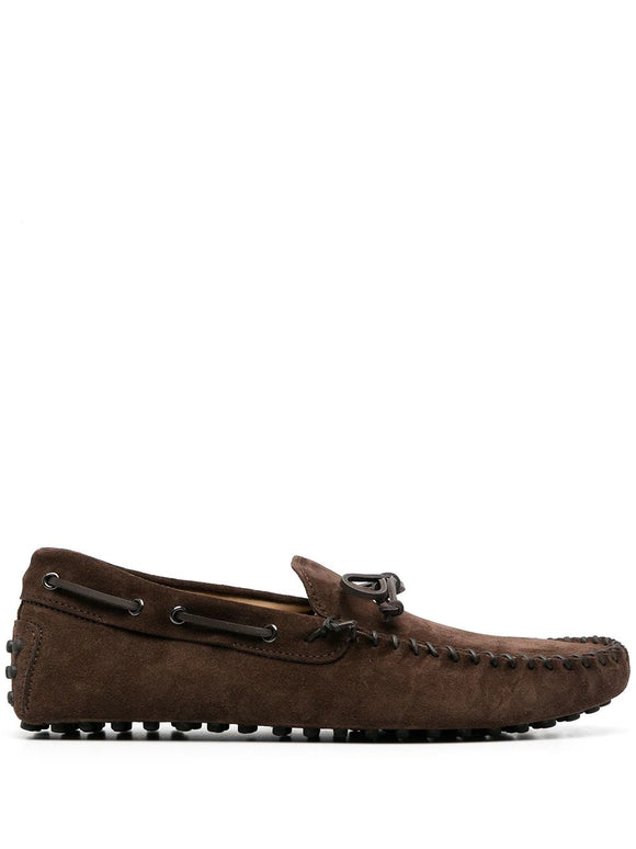 Brown Suede Alcalde Driving Loafers