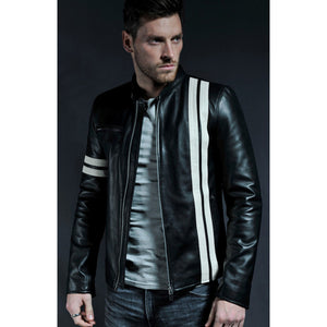 Black Leather Gatton Jacket