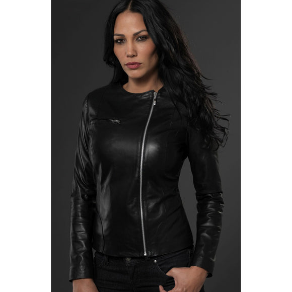 Black Leather Adelaide Jacket