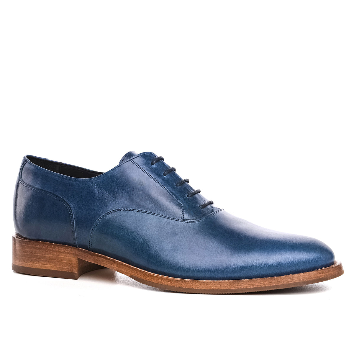8268ba88a6c Height Increasing Blue Leather Ocean Oxfords – Costoso Italiano