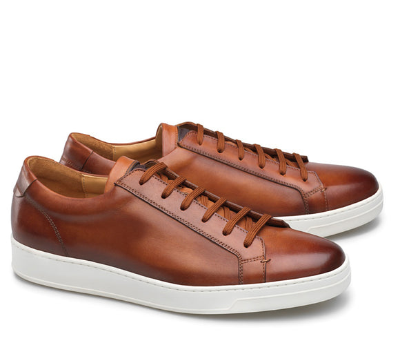 Tan Leather Cornella Lace Up Sneakers
