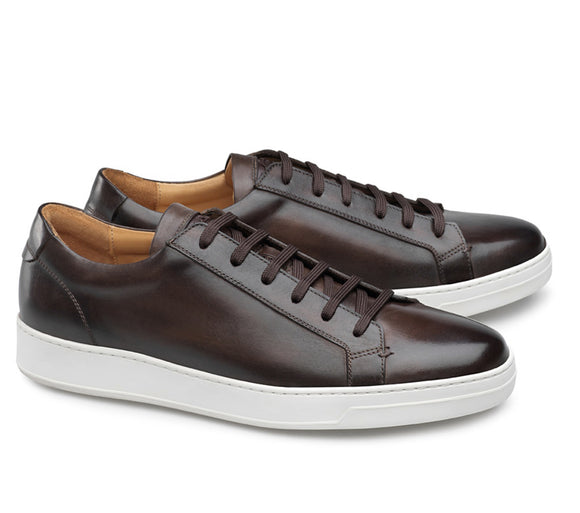 Brown Leather Cornella Lace Up Sneakers