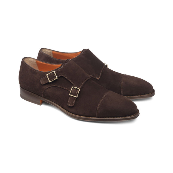 Brown Suede Castle Monk Straps