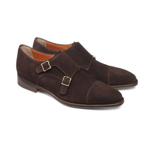 Height Increasing Brown Suede Castle Monk Straps