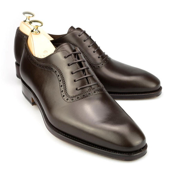 Flat Feet Shoes - Brown Leather Paveley Brogue Oxfords with Arch Support