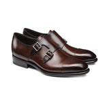 Height Increasing Brown Leather Castle Monk Straps