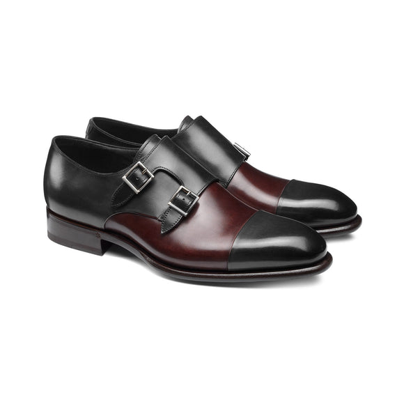 Black and Brown Leather Castle Monk Straps