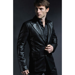 Black Leather Gladstone Jacket