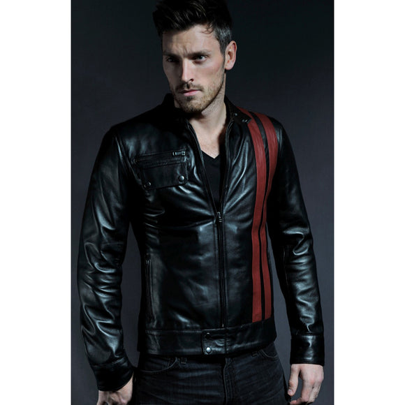 Black Leather Innisfail Jacket