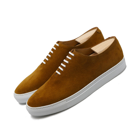 Tan Suede Ferrol Whole Cut Sneakers