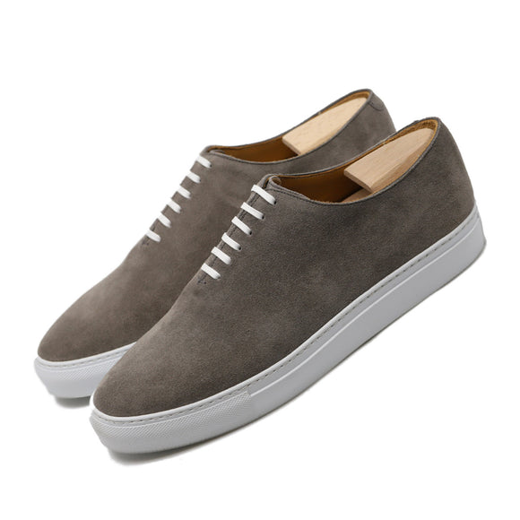 Grey Suede Ferrol Whole Cut Sneakers