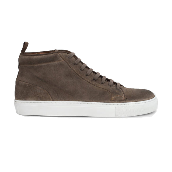 Biege Suede Leather Angus Sneaker Boots