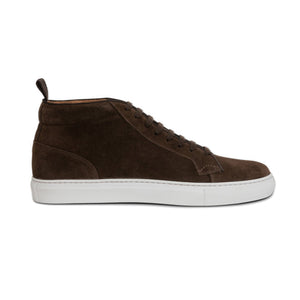 Brown Suede Leather Angus Sneaker Boots