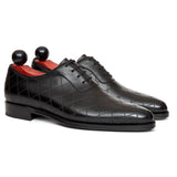 Black Leather Copnor Oxfords