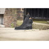 Black Suede Fenland Slip On Chelsea Boots