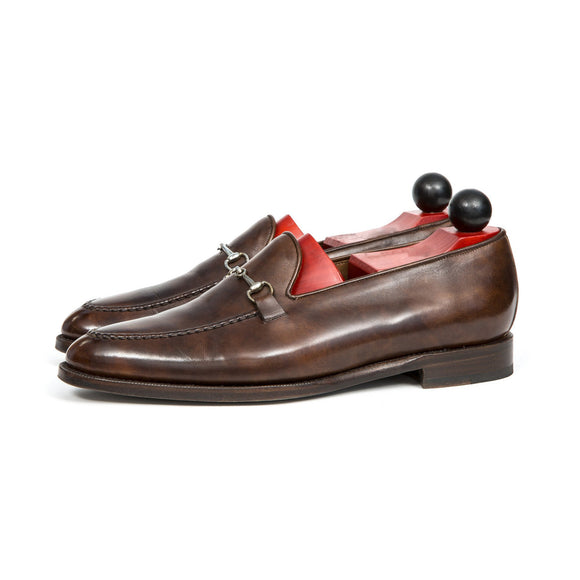 Brown Leather Palmela Horsebit Loafers