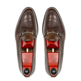 Flat Feet Shoes - Brown Leather Palmela Horsebit Loafers with Arch Support