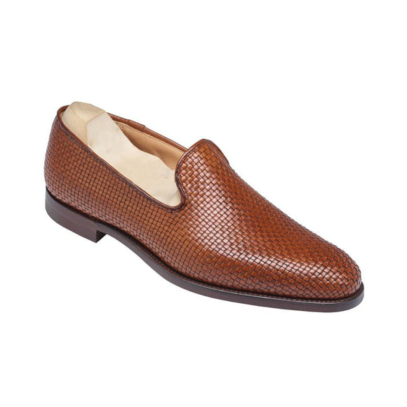 Flat Feet Shoes - Tan Braided Leather Forst Loafers with Arch Support