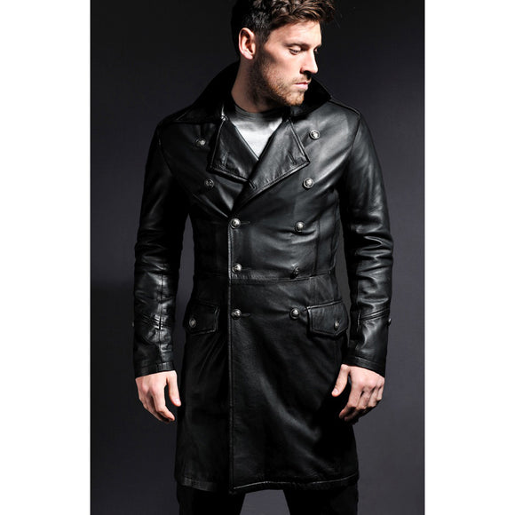 Black Leather Windsor Jacket