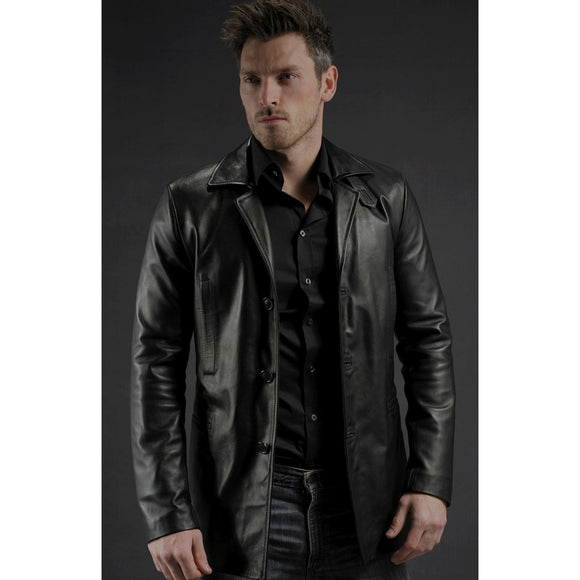 Black Leather Dalby Jacket
