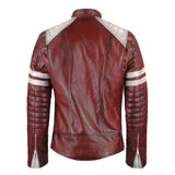 Red Leather Gympie Jacket