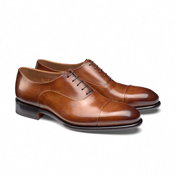 Tan Leather Woodford Balmoral Toe Cap Oxfords