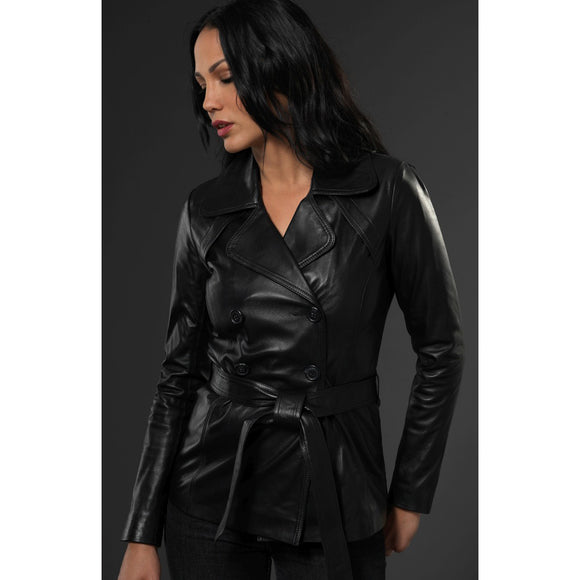 Black Leather Warwick Jacket