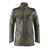 Olive Green Warrat Leather Jacket