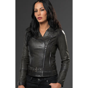 Black Leather Roma Jacket