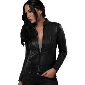 Black Leather Moura Jacket
