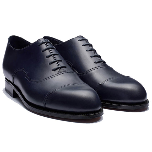 Height Increasing Navy Blue Leather Broxtowe Balmoral Oxfords