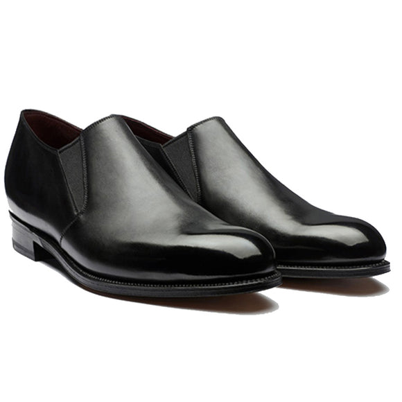Height Increasing Black Leather Worthing Loafers