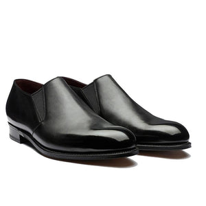 Flat Feet Shoes - Black Leather Worthing Loafers with Arch Support