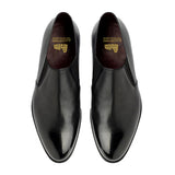 Black Leather Worthing Loafers