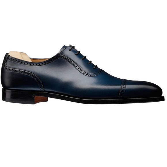 Navy Blue Leather Clapton Brogue Oxfords