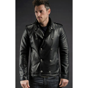 Black Leather Emerald Jacket