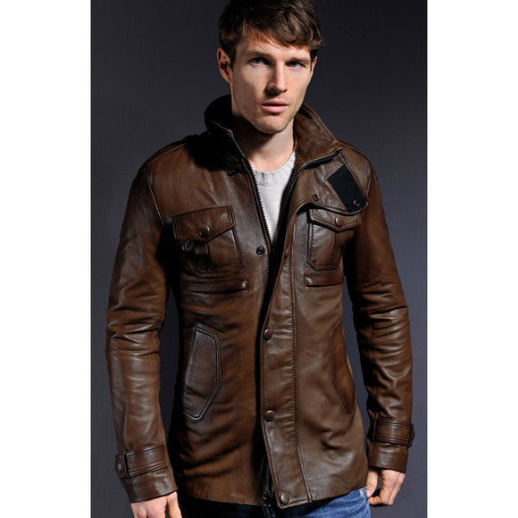 Brown Leather Ingham Jacket