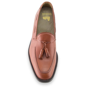Height Increasing Tan Leather Stanley Tassel Loafers