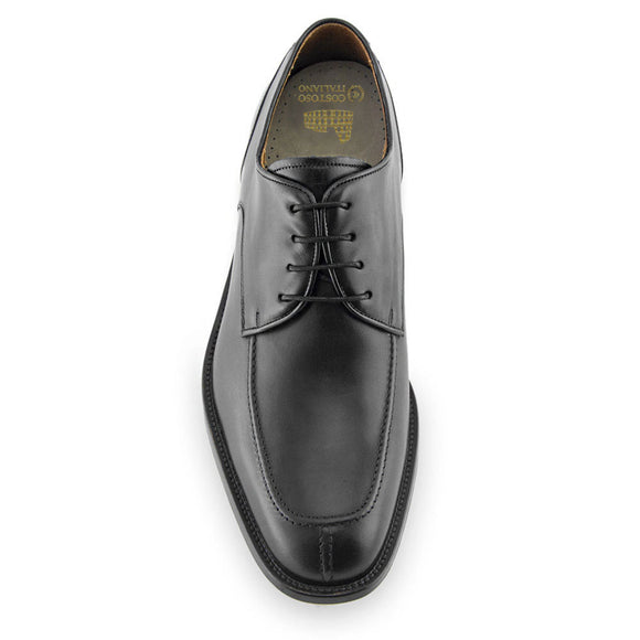 Height Increasing Black Leather Chaplelds Derby Shoes