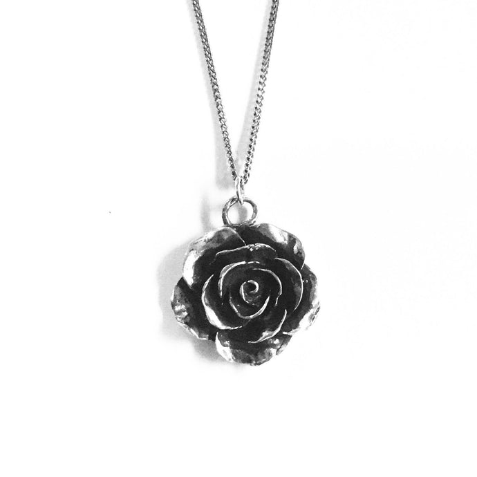 Rose Necklace -Sterling silver
