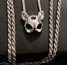 "Load image into Gallery viewer, ""Bad"" kitty necklace -sterling silver *Pre-order*"