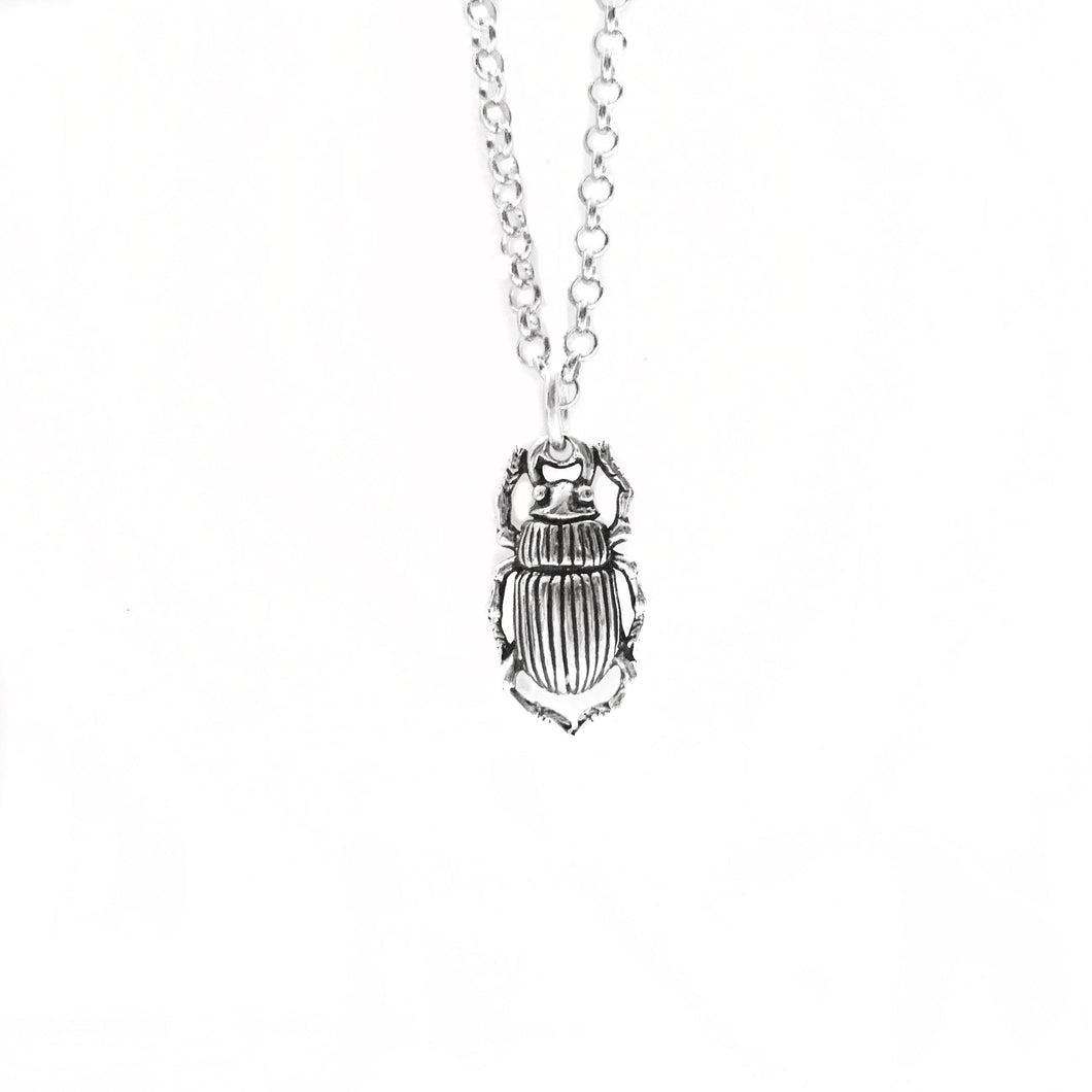 Scarab Necklace -Sterling silver