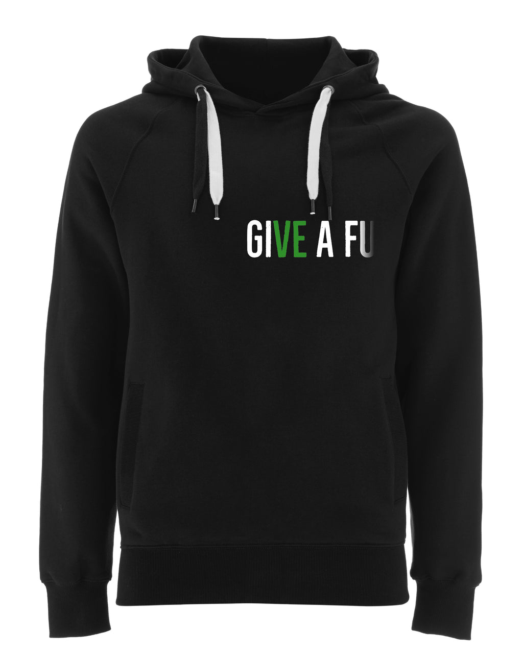 GIVE A FU Original Unisex Organic Cotton Hoodie