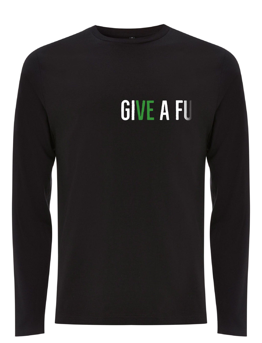 GIVE A FU Original Men's Long Sleeve Organic Cotton T-shirt